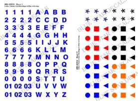 Police Vehicle Roof Markings & Blue Lettering